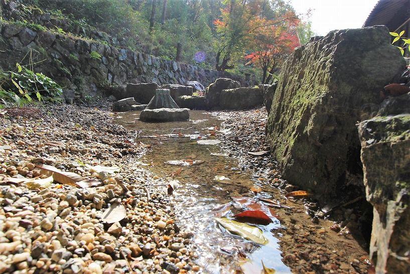 京丹波町妙楽寺石原古民家の湧き水の池