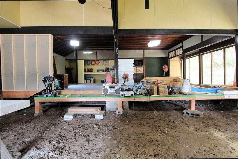 京丹波町妙楽寺石原古民家のリノベーション中内装(和室)