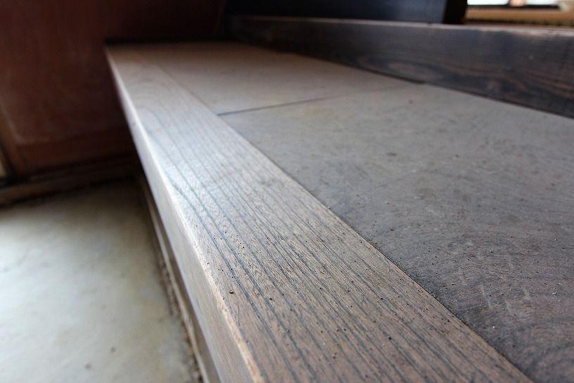 伊賀市摺見古民家の長式台