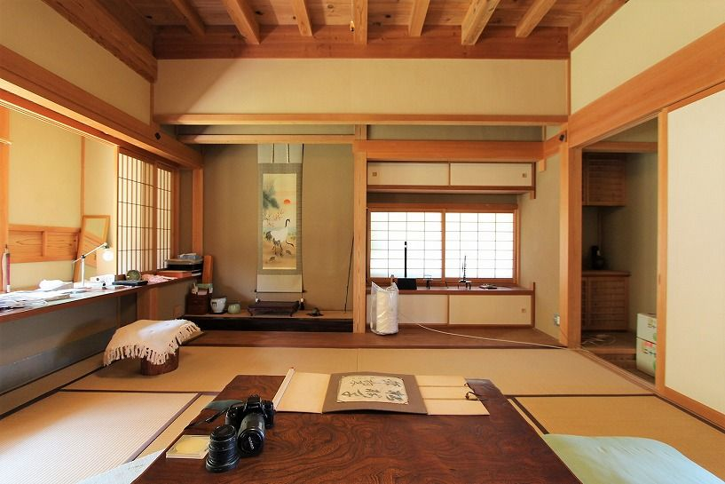 奈良県宇陀郡曾爾村塩井日本家屋の床の間和室