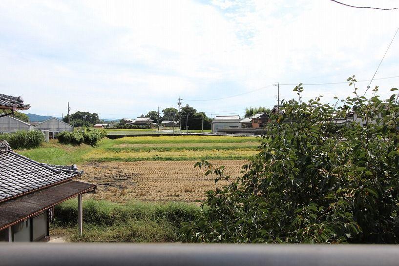 伊賀市川東古民家2階からの眺望