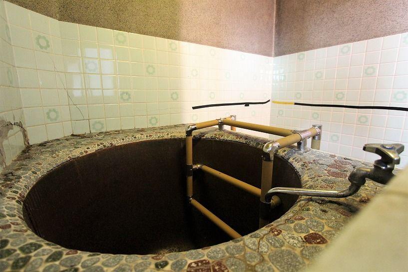伊賀市奥馬野古民家の五右衛門風呂