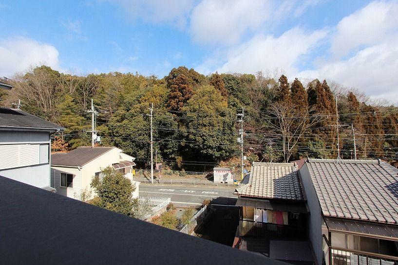 京都市北区衣笠赤阪町戸建のルーフバルコニーからの眺望
