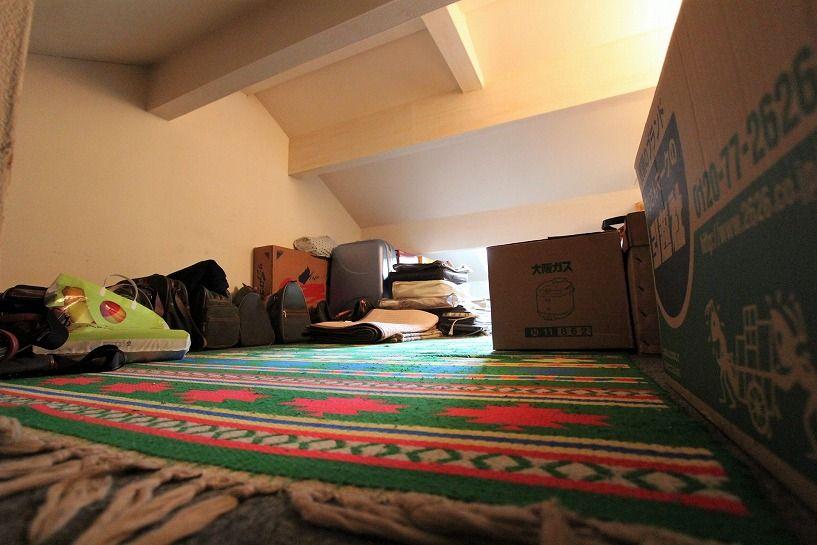 京都市北区衣笠赤阪町戸建の屋根裏収納内部