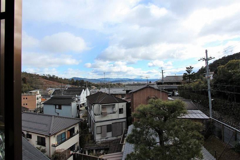 京都市北区衣笠赤阪町戸建の4階からの眺望