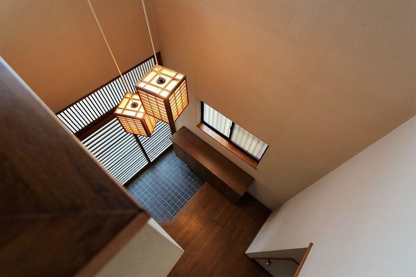 河内長野市美加の台日本家屋2階ホールからの吹抜け