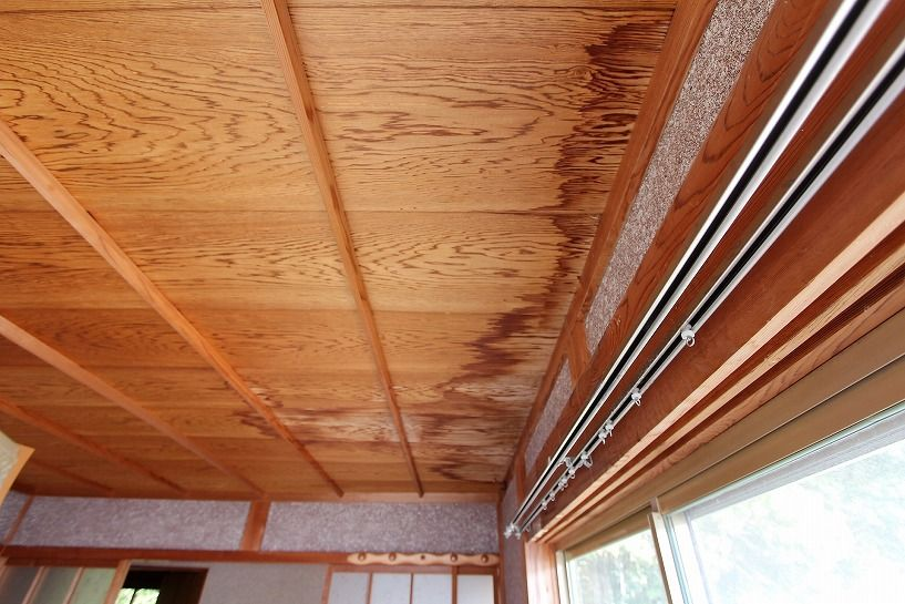 伊賀市摺見古民家の離れ和室天井