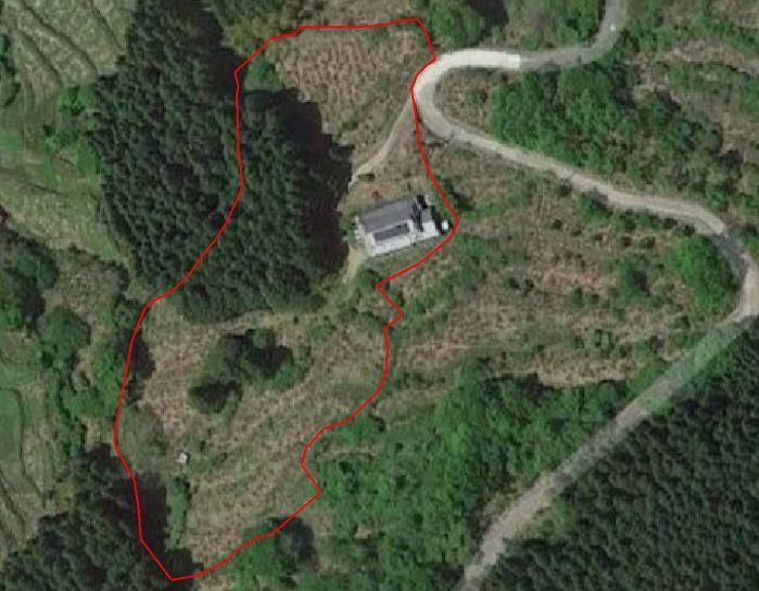 奈良県宇陀郡曾爾村塩井日本家屋の敷地見取り図