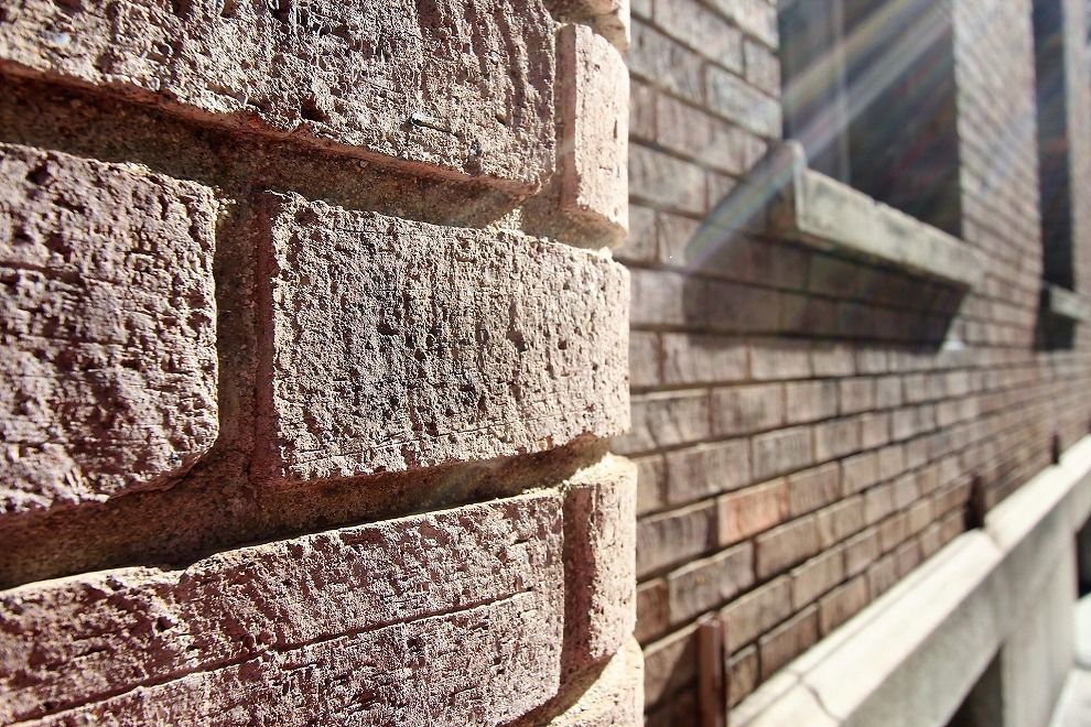 大坂倶楽部の外壁のレンガ